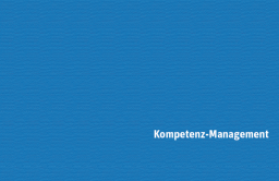 Kompetenz-Management (Extrakt)