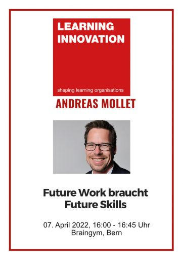 Learning Innovation Conference mit Andreas Mollet